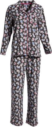 Pillow Talk Women's Sleep Bottoms CONVERCHAR - Gray Dog Pajama Set - Women