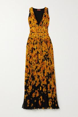 Altuzarra Layla Printed Plisse-georgette Gown - Orange