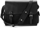 Aspinal Of London Large Shadow Messenger Black