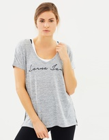 Lorna Jane Relax Short Sleeve Knit Top