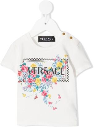 Versace floral-print short-sleeved T-shirt
