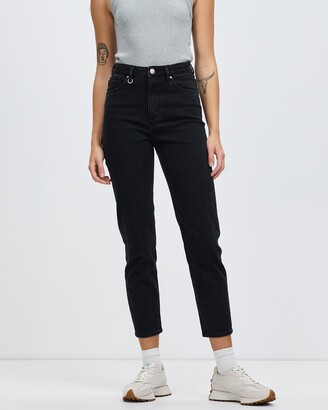 Neuw Women's Black High-Waisted - Lola Mom Jeans - Size 29 at The Iconic