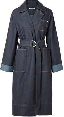 Elizabeth and James Fletcher Belted Denim Coat