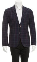 Alexander McQueen Windowpane Plaid Blazer