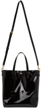 Saint Laurent Black Patent Toy North/South Shopping Tote
