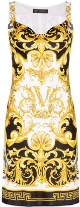 Versace Baroque-Print Mini Dress
