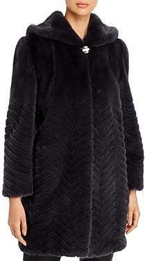 Maximilian Furs Chevron Mink Fur Coat - 100% Exclusive