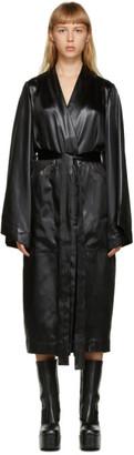 Rick Owens Black Satin Dagger Robe
