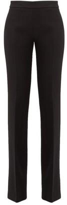Giambattista Valli Mid-rise Wool-crepe Trousers - Black