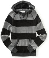 Aeropostale Plaited Stripe Sweater Hoodie