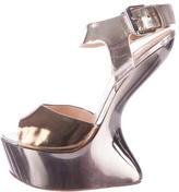 Giuseppe Zanotti Metallic Alien Platform Sandals