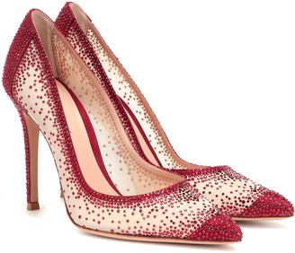 Gianvito Rossi Rania 105 crystal-embellished pumps