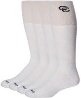 Dan Post Cowboy Certified Over the Calf Socks 4 Pack (White) Men's Crew Cut Socks Shoes