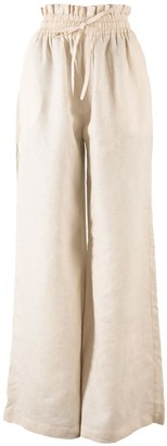 Nary Kampot Linen Lounge Pant In Tan