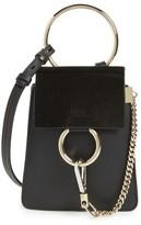 Chloé Faye Small Suede & Leather Bracelet Bag - Black