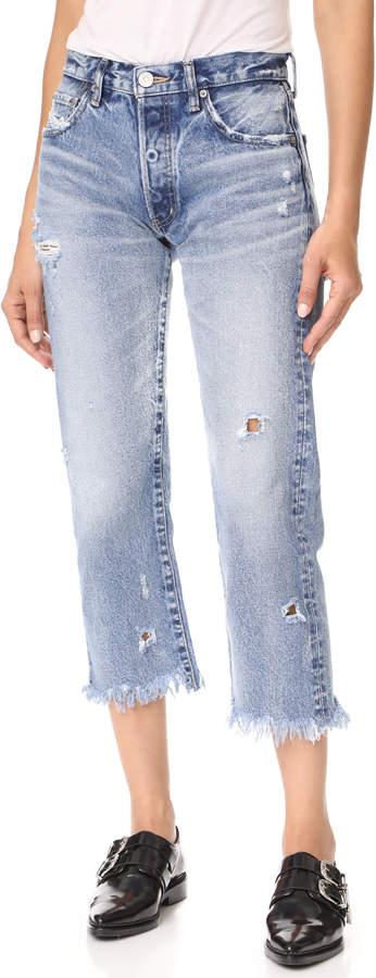 Moussy MV Atoka Cropped Straight Jeans