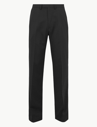 Marks and Spencer Regular Fit Wool Blend Stretch Trousers