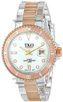 Rosegold TKO ORLOGI Women's TK500-RW Venezia Steel Plastic Case and Bracelet Watch