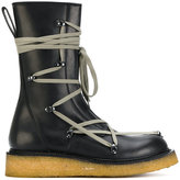 Rick Owens lace up creeper boots