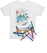 Hanes Kid's Omy Fantastic Graphic T-Shirt & Colored Markers Set
