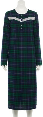 Croft & Barrow Women's Long Flannel Nightgown