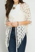 She + Sky Natural Crochet Vest