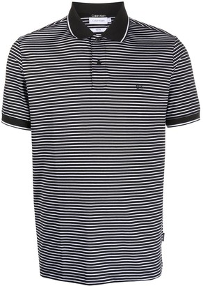 Calvin Klein Logo Striped Polo Shirt