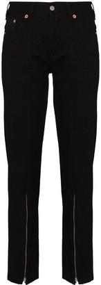 MM6 MAISON MARGIELA Zipped Hem Skinny Jeans
