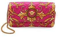 Versace Women's Micro Icon Western Signature-Print Leather Clutch
