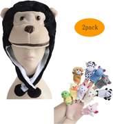 Pulama Winter Short Animal Beanie Hats 10 Finger Puppets Chrsitmas Gift for Kid