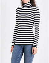 Maje Molleton turtleneck striped knitted jumper