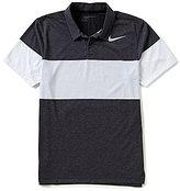 Nike Transition Striped Modern-Fit Dri-FIT Polo Shirt