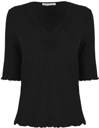 Oasis Ribbed Ruched Top