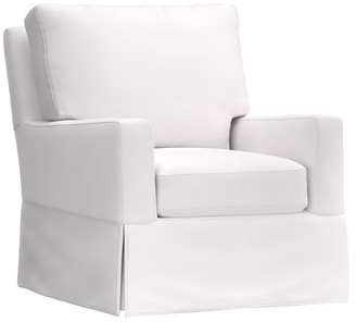 Pottery Barn Kids Comfort Square Arm Swivel Glider & Ottoman