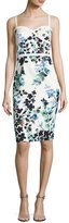 Black Halo Daria Sleeveless Floral Sweetheart Cocktail Dress, Green/White/Multicolor