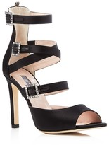 Sarah Jessica Parker Fugue Satin Strappy High Heel Sandals