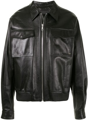 SONGZIO Leather Trucker Jacket