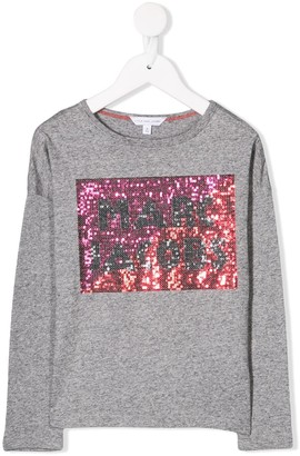 Little Marc Jacobs sequin logo T-shirt