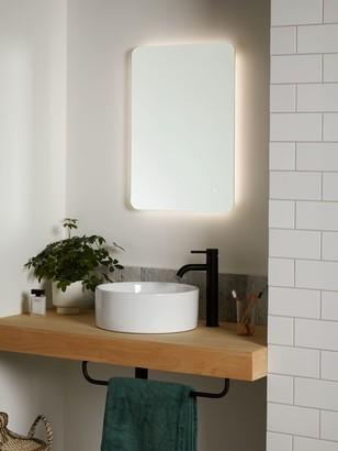 John Lewis & Partners & Partneres Halo Wall Mounted Illuminated Bathroom Mirror, Small