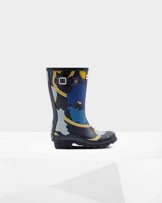 Hunter Original Big Kids Rockpool Camo Rain Boots