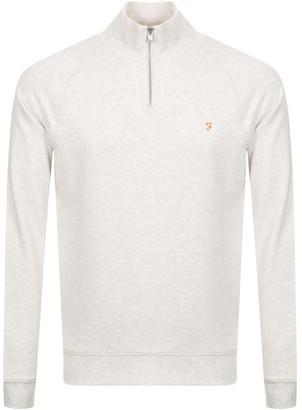 Farah Jim Half Zip Sweatshirt Beige