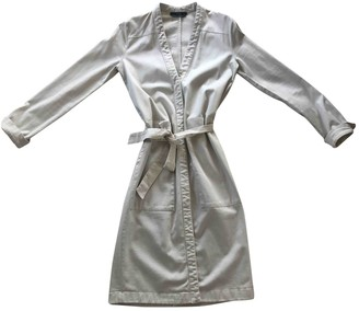 SET Ecru Cotton Dress for Women