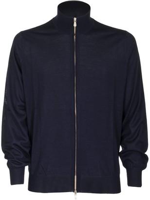 Brunello Cucinelli Zip-front Cardigan Marine Blue