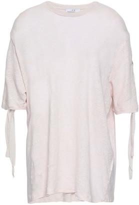 IRO Keronica Lace-up Slub Linen-jersey T-shirt