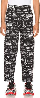 Balenciaga Cropped Pants in Black & White   FWRD