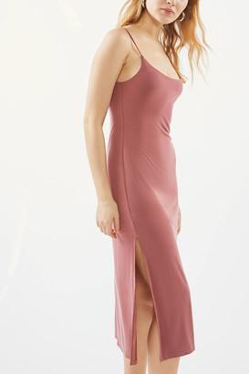 Urban Outfitters Bilboa Cupro Side-Slit Slip Dress