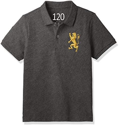 Giordano (ジョルダーノ) - (ジョルダーノ) GIORDANO 3Dライオン刺繍ポロシャツ G17SS-03016002 グレー 100