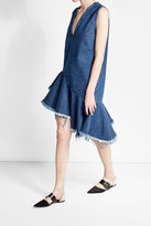 Marques Almeida Marques' Almeida Frayed Denim Shift Dress