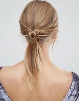Orelia Heart Thread Through Hair Clip