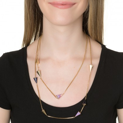 Magid Sarah Shooting Arrows Layering Necklace, Purple